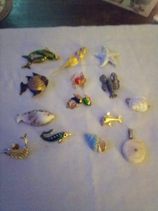 New lot of ocean and shell design broaches and pendents - B&P'sringsnthings
