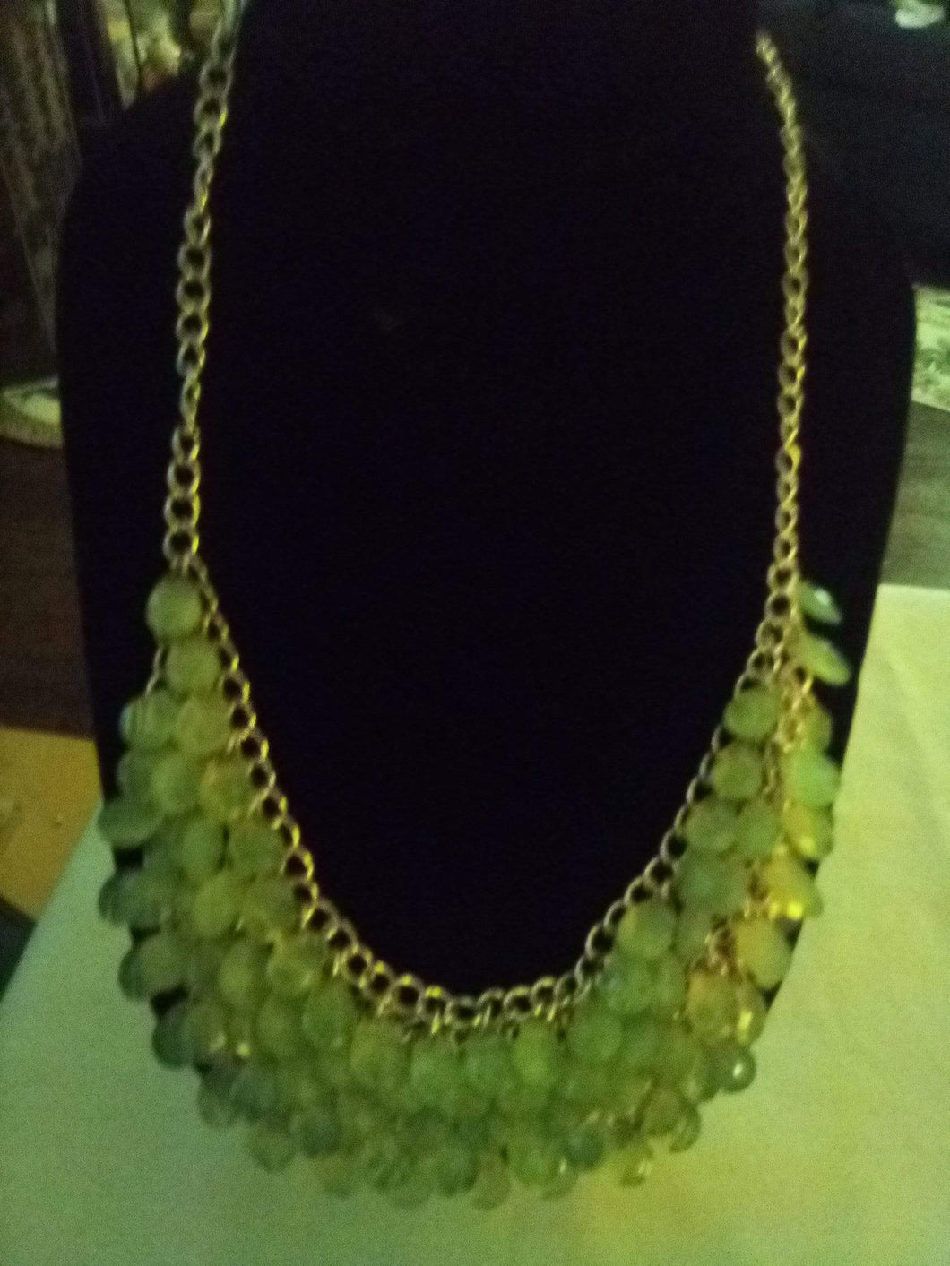 Nice dressy pale blue layered crystal necklace - B&P'sringsnthings