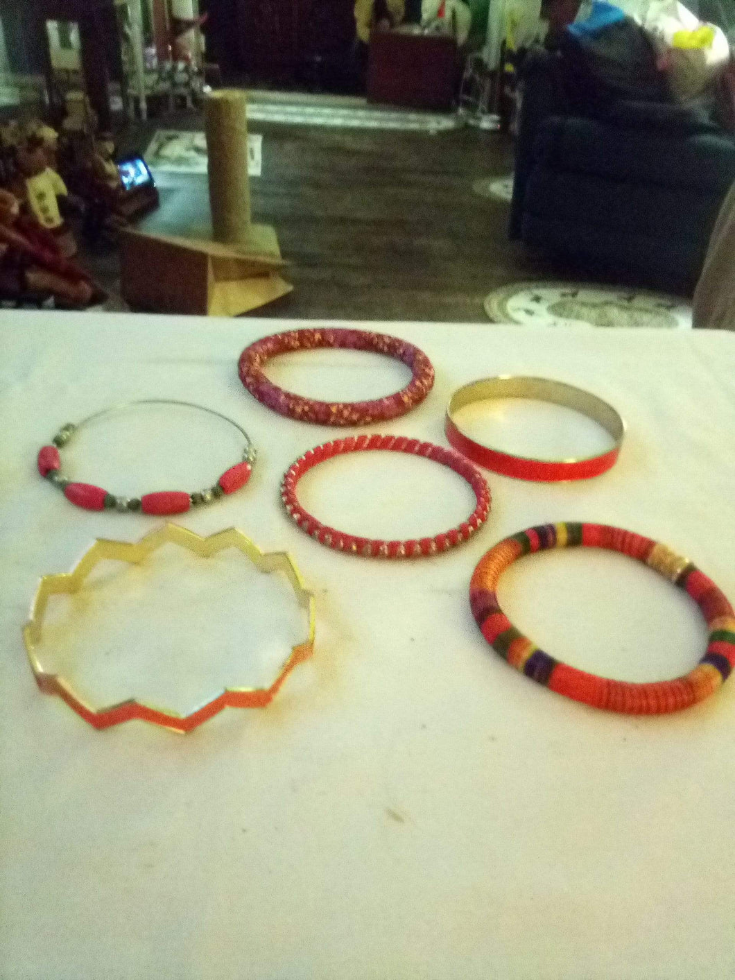 Nice lot of 6 colorful pink bracelets - B&P'sringsnthings