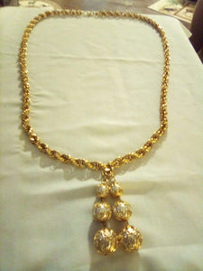 Park Lane marked gold tone long necklace - B&P'sringsnthings