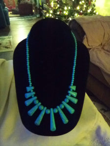 Pretty blue necklace - B&P'sringsnthings