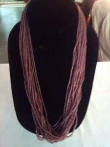Pretty tiny beaded light lavender multi tier necklace - B&P'sringsnthings