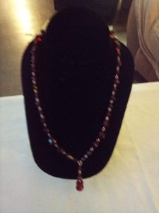 Red crystal beaded necklace - B&P'sringsnthings