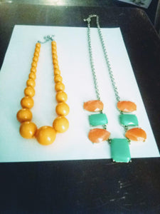 Two dressy colorful necklaces - B&P'sringsnthings