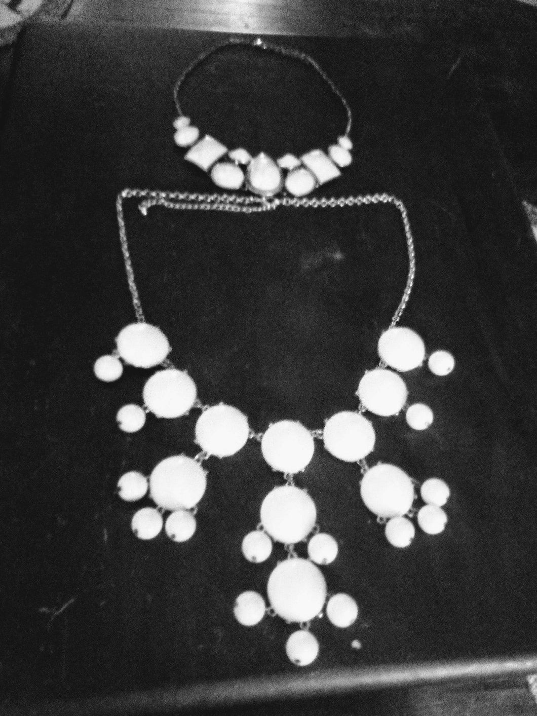 Two dressy white necklaces - B&P'sringsnthings