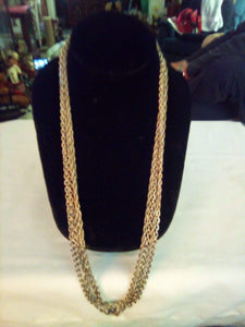 Very long double silver tone chain/necklace - B&P'sringsnthings