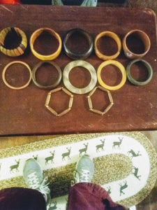 """Wood like"" bracelet assortment - B&P'sringsnthings"