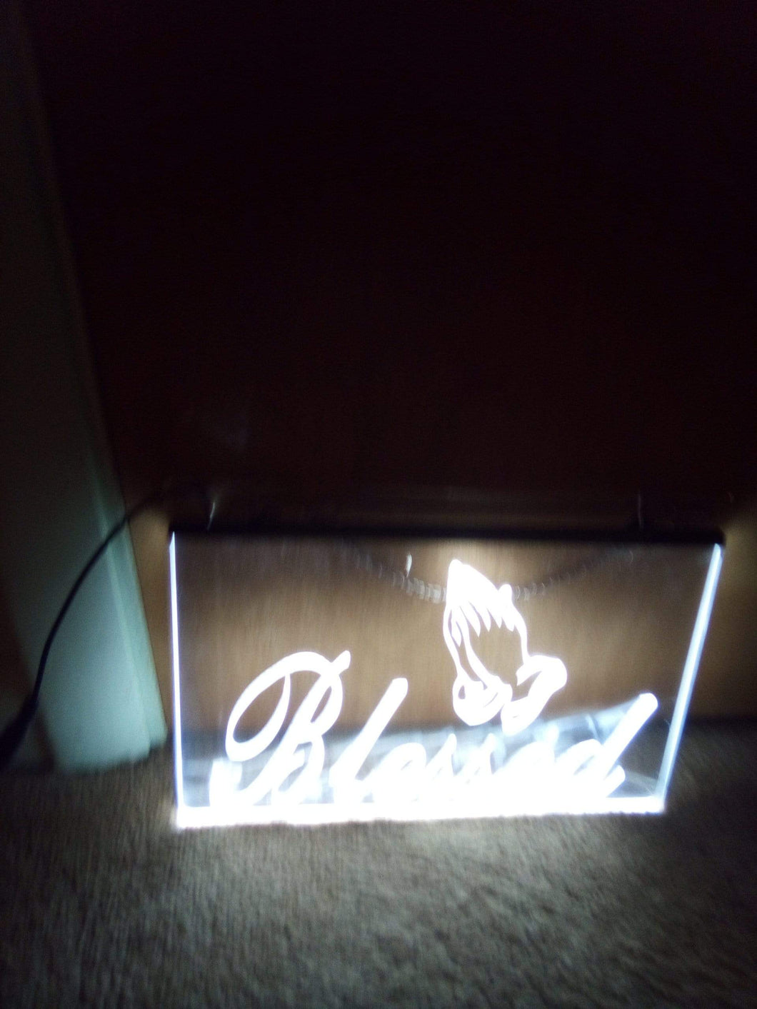LED 12 volt clear colored sign - B&P'sringsnthings