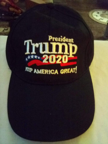 Black new 2020 Trump hat - B&P'sringsnthings