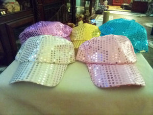 Ladies sequin colorful hat - B&P'sringsnthings