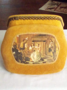 A decorative cloth covered jewelry box - B&P'sringsnthings