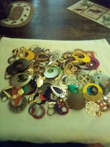 Large lot of assorted jewelry making pieces - B&P'sringsnthings