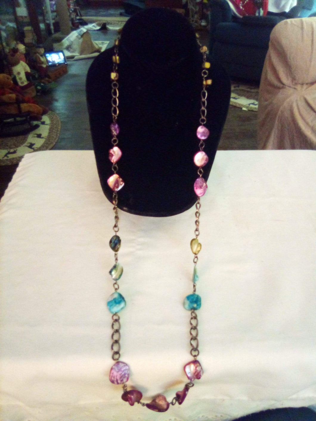 Colorful long dressy necklace - B&P'sringsnthings