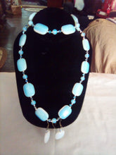 Load image into Gallery viewer, A rare opalite necklace, bracelet, and pierced earring set - B&P'sringsnthings