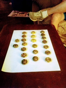 A vintage gold tone button cover lot - B&P'sringsnthings