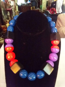 Monet marked colorful large beaded necklace - B&P'sringsnthings