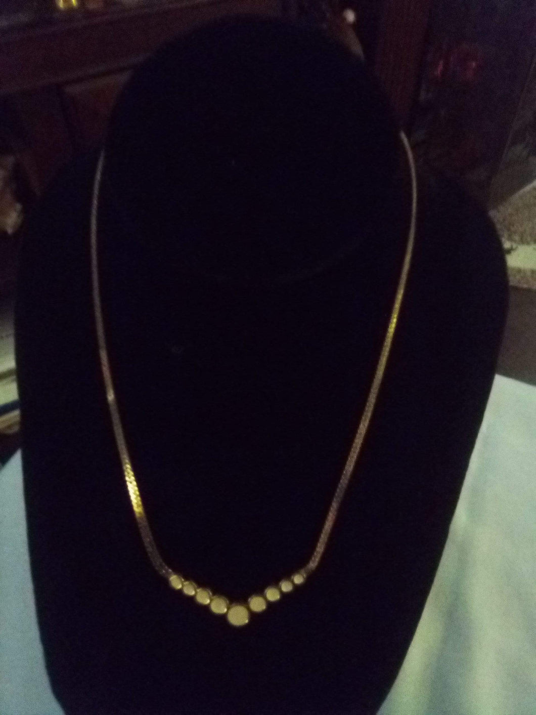 Monet marked gold tone chained necklace - B&P'sringsnthings