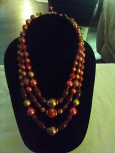 3 tier beautiful vintage beaded necklace - B&P'sringsnthings