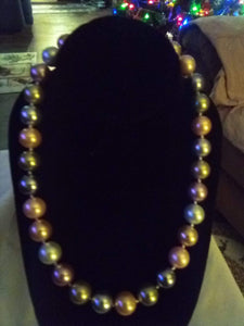 Large pearl like beaded vintage necklace - B&P'sringsnthings