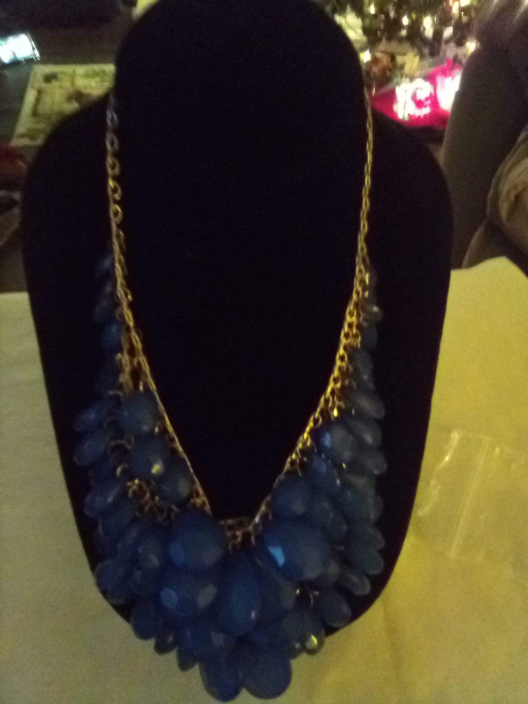 Vintage blue multi decorated necklace - B&P'sringsnthings