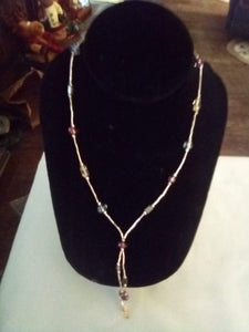 Napier marked silver tone vintage necklace - B&P'sringsnthings