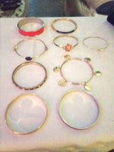 Dressy and colorful solid bracelet lot - B&P'sringsnthings