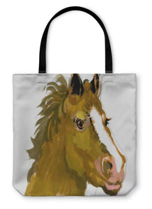 Tote Bag, Horse Head Watercolor Painting - B&P'sringsnthings