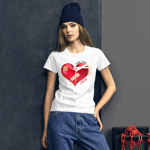Bandage Heart Women's Short Sleeve T-Shirt