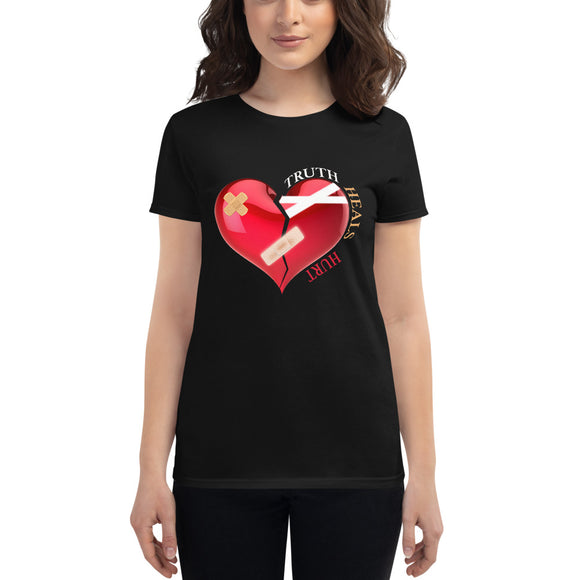 Dark Collection Bandage Heart Women's Short Sleeve T-Shirt