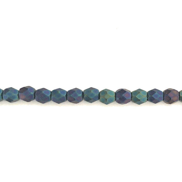 4 mm Fire-polished/facetted glass beads