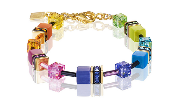 Coeur de Lion Bracelet, Multicolour Rainbow gold