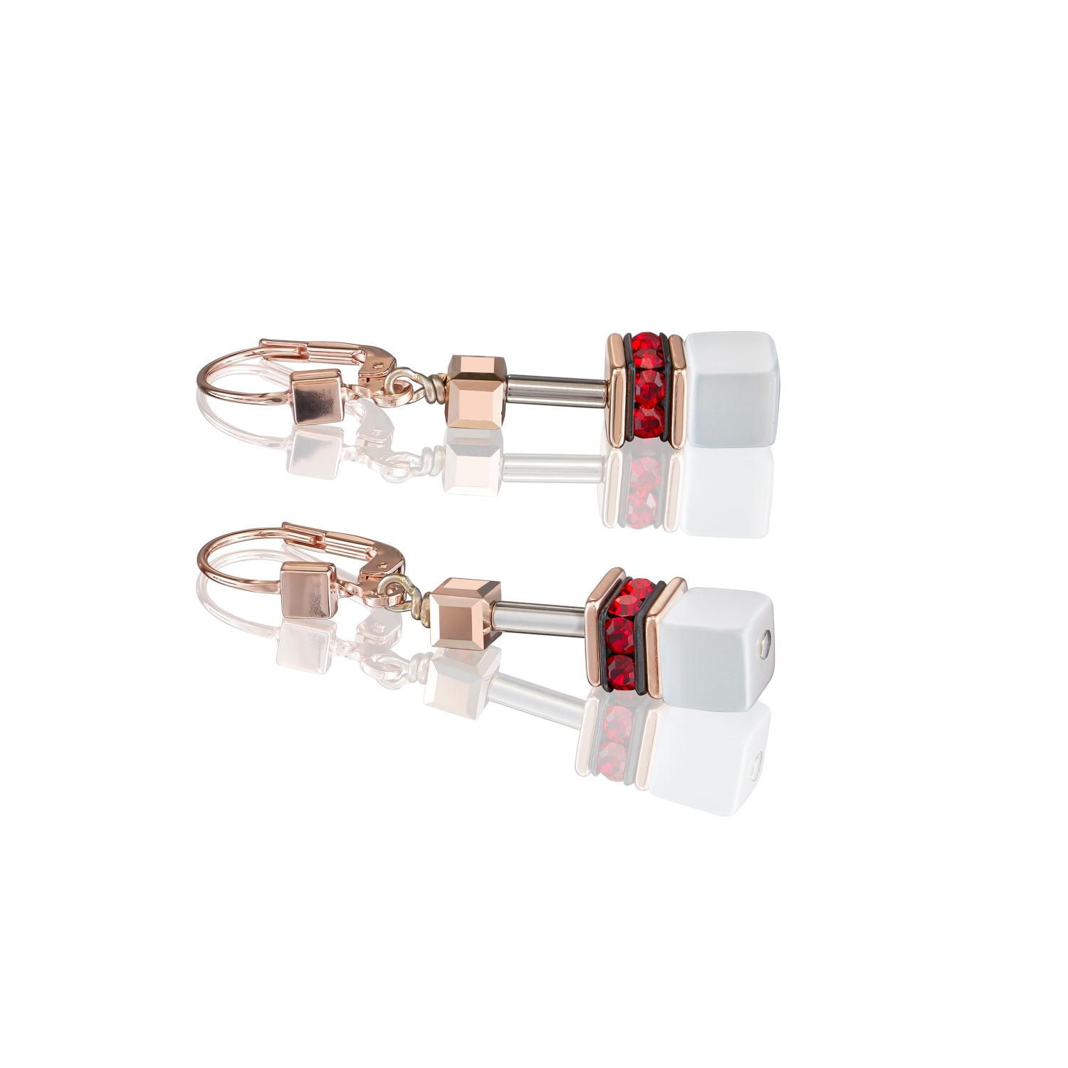 Coeur de Lion Earrings, red/white