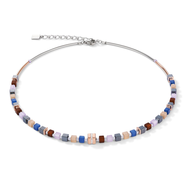 Coeur de Lion Necklace, Blue/Brown/Lilac