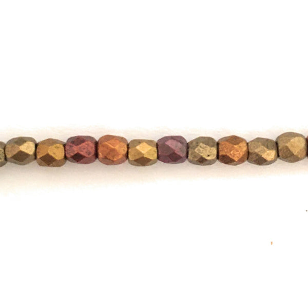 3 mm Fire-polished/Facetted Beads