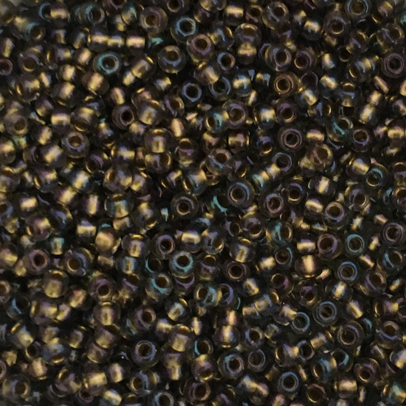 Toho Seed Beads size 11/0  Gold-lined Luster Black Diamond TRD-271