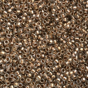 Toho Seed Beads size 15/0 Gold-lined Crystal TRD-989