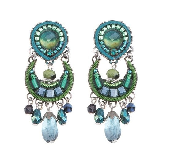 Ayala Bar Green River Clip Earrings