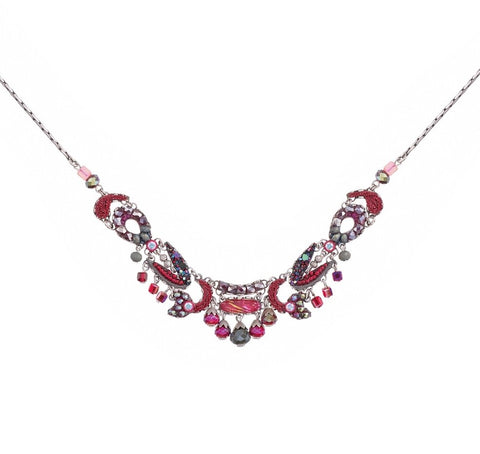 Ayala Bar Crimson Flame, Rosa Necklace