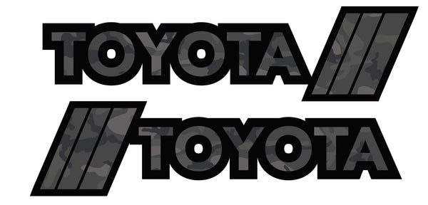 Black Camo Toyota Decals