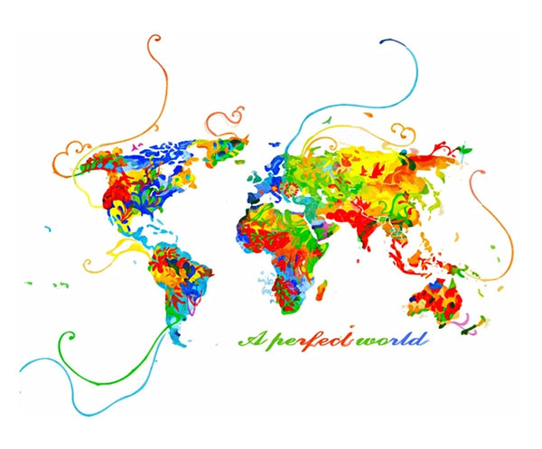 World Map Diy Paint By Numbers Kits UK VM94913