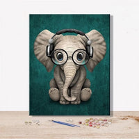 Animal Elephant Diy Paint By Numbers Kits Uk VM92294