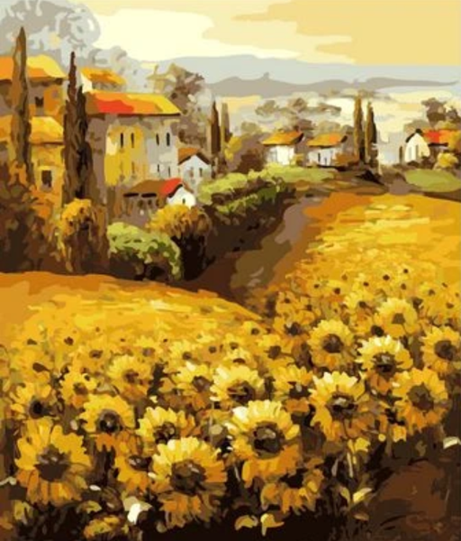 Sunflower Diy Paint By Numbers Kits Uk ZXZ103