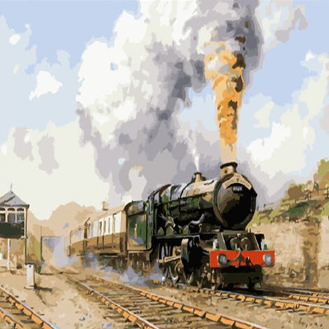 Train Diy Paint By Numbers Kits UK VM95822