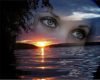 Nature Sunset Lake Eyes Diy Paint By Numbers Kits Uk VM00035