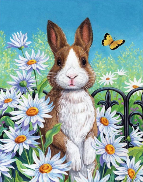 Animal Rabbit Diy Paint By Numbers Kits UK VM95559