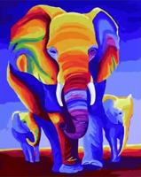 Elephant Diy Paint By Numbers Kits UK PBN30026