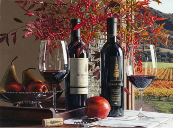 Wine Fruit Diy Paint By Numbers Kits Uk PBN00207