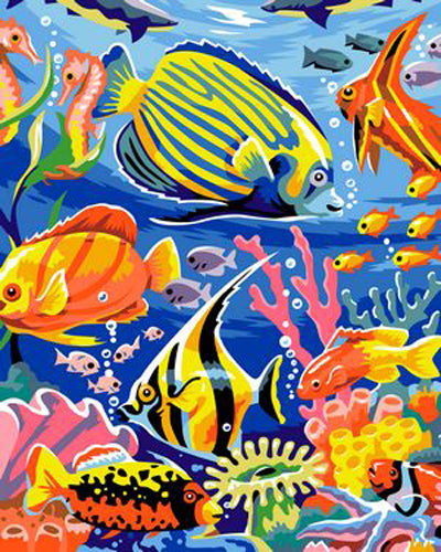 Fish Diy Paint By Numbers Kits Uk ZXB346