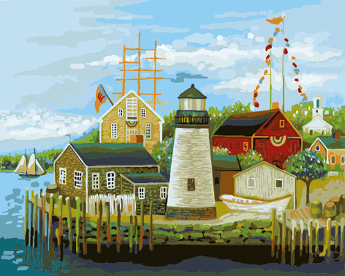 Lighthouse Diy Paint By Numbers Kits UK ZXB601-27