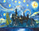 Starry Sky Abstract Scenery Diy Paint By Numbers Kits Uk VM52436